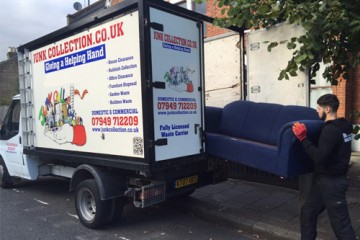 junk collection removal truck